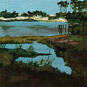 Oyster Lake Print by Racquel Morgan