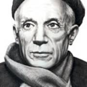 Pablo Picasso Print by Murphy Elliott