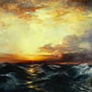Pacific Sunset Print by Thomas Moran