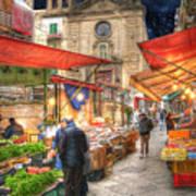 Palermo Market Place Print by Juli Scalzi