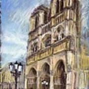 Paris Notre-dame De Paris Print by Yuriy  Shevchuk