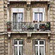 Paris Windows Print by Elena Elisseeva