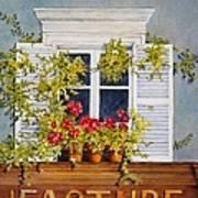 Parisian Window Print by Mary Ellen  Mueller Legault