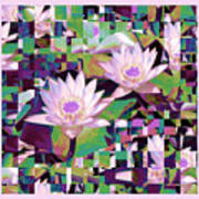 Patchwork Quilt Print by Karen Lewis
