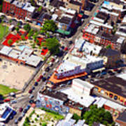 Pats King Of Steaks And Genos Steaks South Philadelphia 4542 Print by Duncan Pearson