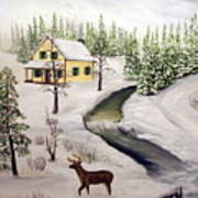 Peaceful Winter Day Print by Timothy Smith