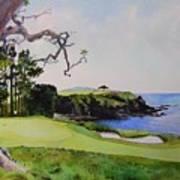 Pebble Beach Gc 5th Hole Print by Scott Mulholland