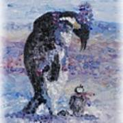 Penguin Love Print by Nadine Rippelmeyer