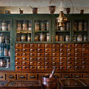 Pharmacy - Right Behind The Counter Print by Mike Savad