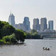 Philadelphia Along The Schuylkill River Print by Bill Cannon