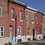 Philadelphia Row Houses Print by Brendan Reals