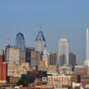 Philadelphia Standing Tall Print by Simon Wolter