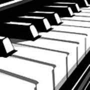 Piano Keyboard No2 Print by Michael Tompsett
