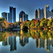 Piedmont Park Atlanta City View Print by Corky Willis Atlanta Photography