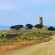Piedras Blancas Historic Light Station - Outstanding Natural Area Central California Print by Christine Till