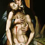 Pieta Print by Luis de Morales