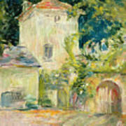 Pigeon Loft At The Chateau Du Mesnil Print by Berthe Morisot