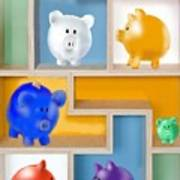 Piggy Banks Print by Arline Wagner