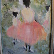 Pink Ballet Print by Les Smith
