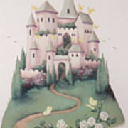 Pink Castle Print by Suzn Smith