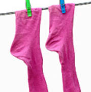 Pink Socks Print by Frank Tschakert