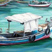 Pirogue Fishing Boat  Print by Karin  Dawn Kelshall- Best