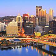 Pittsburgh Pano 22 Print by Emmanuel Panagiotakis