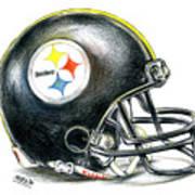 Pittsburgh Steelers Helmet Print by James Sayer