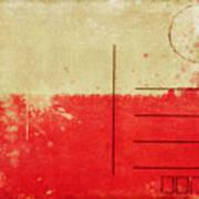 Poland Flag Postcard Print by Setsiri Silapasuwanchai