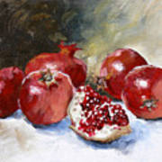 Pomegranate Print by Tanya Jansen