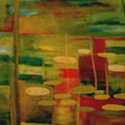 Pond Reflections Print by Jun Jamosmos