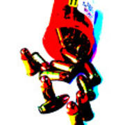 Pop Art Of .45 Cal Bullets Comming Out Of Pill Bottle Print by Michael Ledray