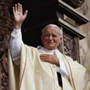 Pope John Paul II Celebrates Mass Print by James L. Stanfield