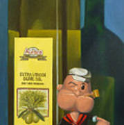 Popeye And Olive Oil Print by Judy Sherman