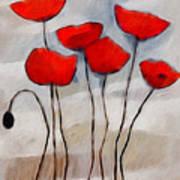 Poppies Painting Print by Lutz Baar