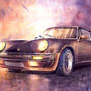 Porsche 911 Turbo 1979 Print by Yuriy  Shevchuk