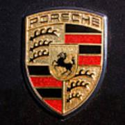 Porsche Emblem -211c Print by Jill Reger
