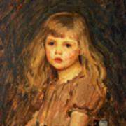Portrait Of A Girl Print by John William Waterhouse