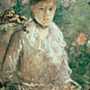 Portrait Of A Young Lady Print by Berthe Morisot