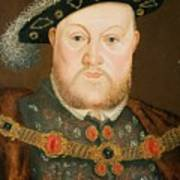 Portrait Of Henry Viii Print by English School