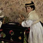 Portrait Of Hortense Valpincon As A Child Print by Edgar Degas
