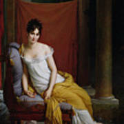 Portrait Of Madame Recamier Print by Francois Pascal Simon Gerard