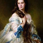 Portrait Of Madame Rimsky Korsakov Print by Franz Xaver Winterhalter