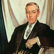 Portrait Of Woodrow Wilson Print by Sir William Orpen