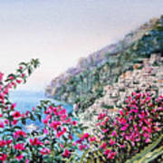 Positano Italy Print by Irina Sztukowski
