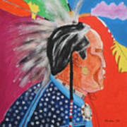 Pow Wow Print by Mordecai Colodner