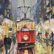 Prague Old Tram 08 Print by Yuriy  Shevchuk