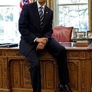 President Barack Obama Sits On The Edge Print by Everett