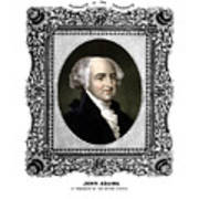 President John Adams Portrait  Print by War Is Hell Store