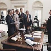 President Reagan And His White House Print by Everett